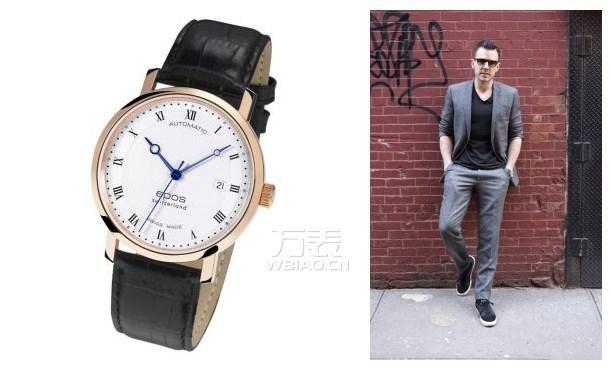 瑞士爱宝时男式手表如何?巴黎饰钉纹与罗马数字刻度总是营造经典的好伴侣