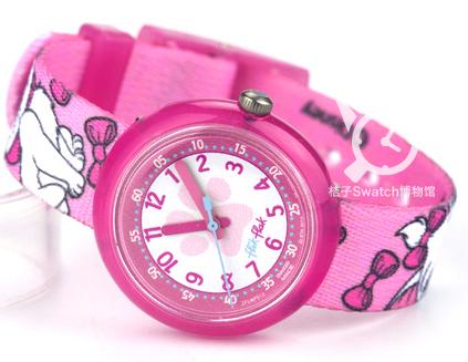 Swatch手表 2014飞菲童表系列粉色猫咪