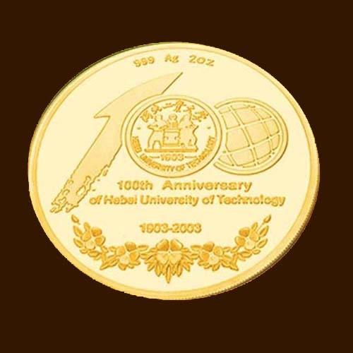 纯金结婚纪念币定制 独一无二的总是最好