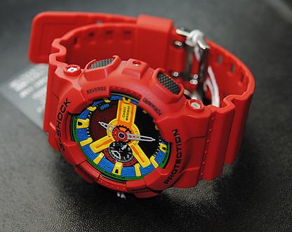 红色gshock手表,卡西欧30周年纪念版表款掀起红色飓风