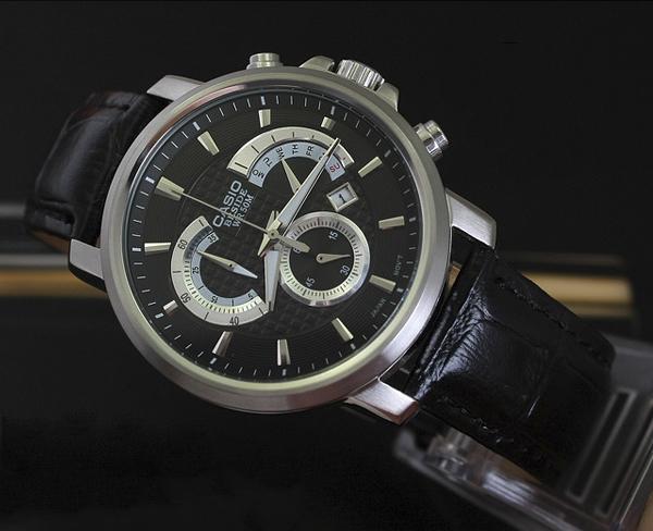 casio手表beside系列 商务人士腕间的必备腕饰