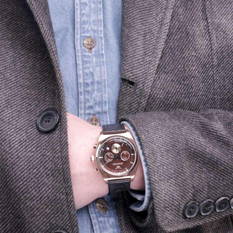阿玛尼手表ar0371,腕间精致凸显商务气场