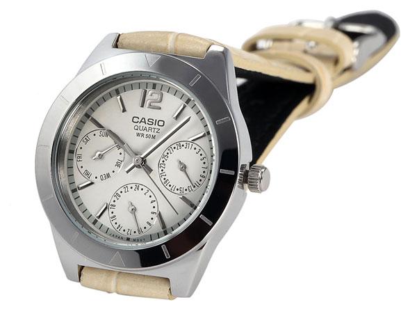 卡西欧手表ltp-2069l 明澈三眼为女性添质加魅