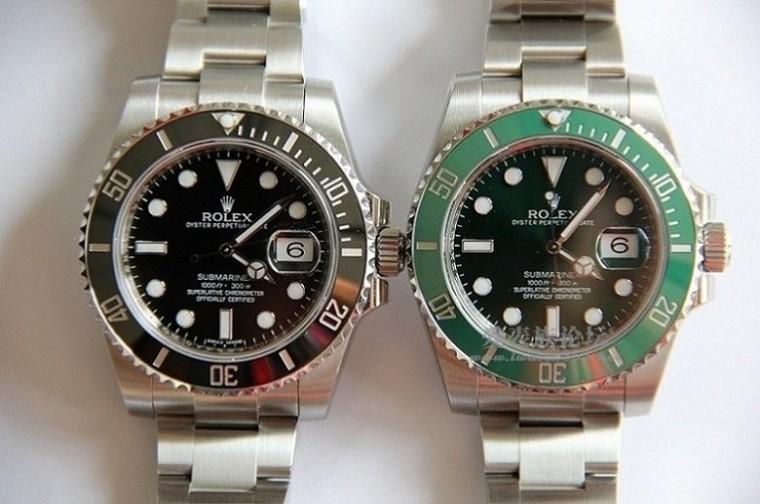 劳力士绿水鬼和黑水鬼哪个好?黑VS绿,哪个更适合你?