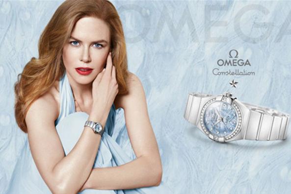 欧米茄最新广告:好莱坞影星 Nicole Kidman继续代言新品