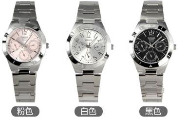 三款卡西欧钢带手表女款推荐,现代都市群体的新选择