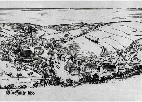 1855年厄尔士山脉格拉苏蒂小镇的景象。