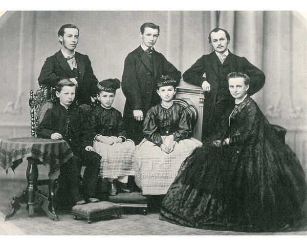费尔迪南多‧阿道夫‧朗格与孩子的家庭照