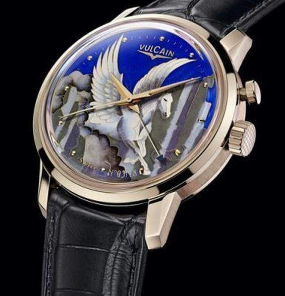 Vulcain创作飞马捏丝珐琅腕表限量款 展现珐琅工艺的造诣