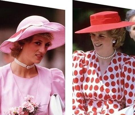 """戴安娜王妃演绎""""帽子+珍珠""""组合-戴安娜婚照新曝光 那些专属于戴安"""