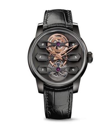 GP Girard-Perregaux brand new DLC titanium case three bridge tourbillon watch
