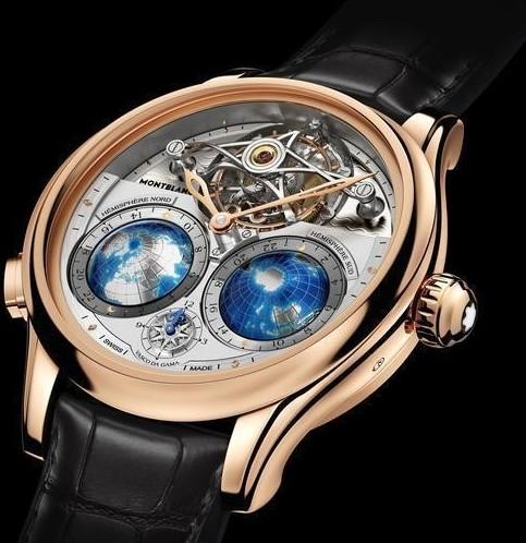 万宝龙Villeret系列圆筒游丝陀飞轮Geosphères Vasco da Gama限量款腕表