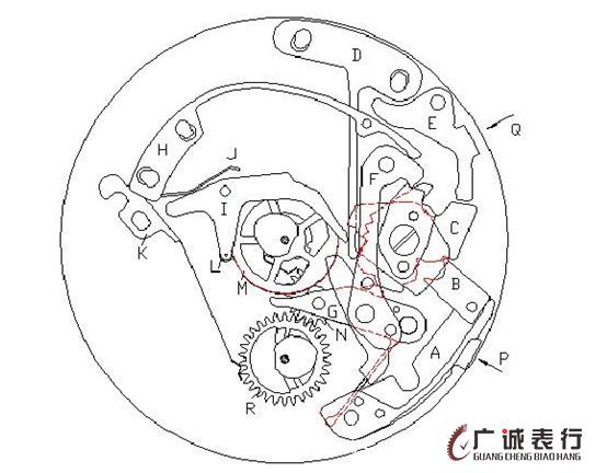 【杭州汉米尔顿手表维修】hamilton计时机芯ETA7750工作原理