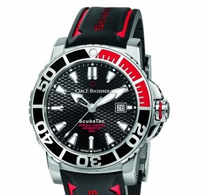 宝齐莱柏拉维中国红特别版潜水腕表 精确计时型格超然
