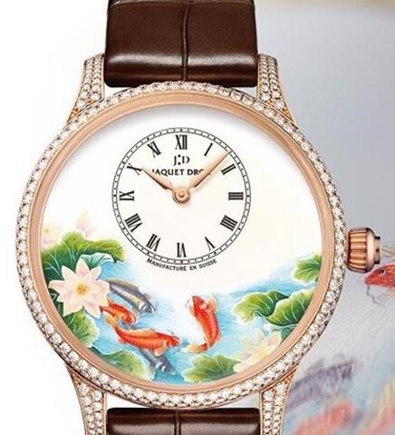 微绘锦鲤时分小针盘腕表