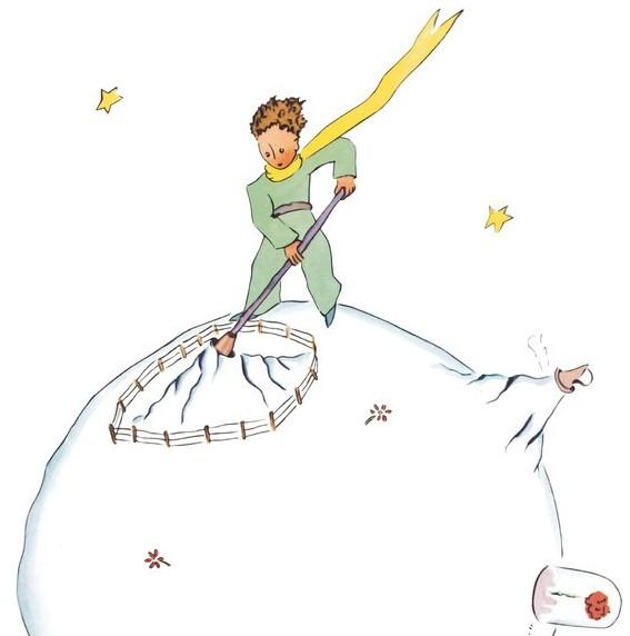 """IWC大型飞行员腕表""""小王子""""特别版表底镌刻的《小王子》插画"""