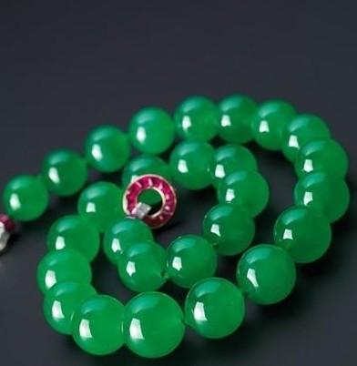 翡翠红宝石项链