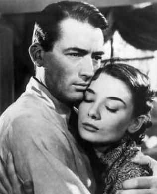 奥黛丽·赫本和格里高利·派克出演的电影《罗马假日》剧照