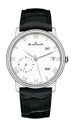 宝珀Villeret系列精钢款两地时年历腕表