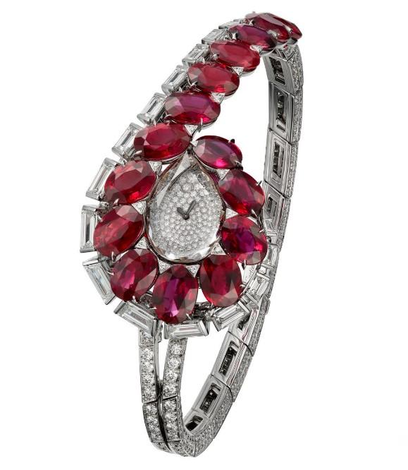 烈焰光芒,柔美风情 卡地亚推出TRAIT D'éCLAT高级珠宝腕表