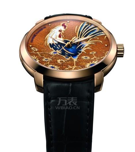 雅典表为您隆重呈献《鎏金金鸡腕表》庆祝鸡年的来到