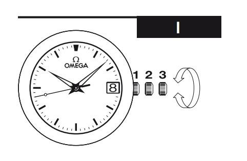 Omega欧米茄手动和自动上链表时间、日期调校方法(四)