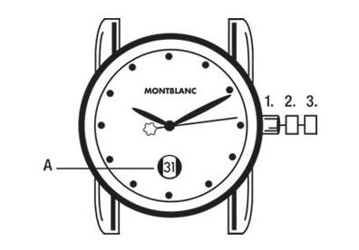 万宝龙运动系列自动机芯腕表时间、日期设置方法