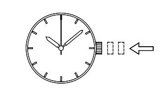 orient东方双狮 EL(40N) 腕表时间、日期设置方法