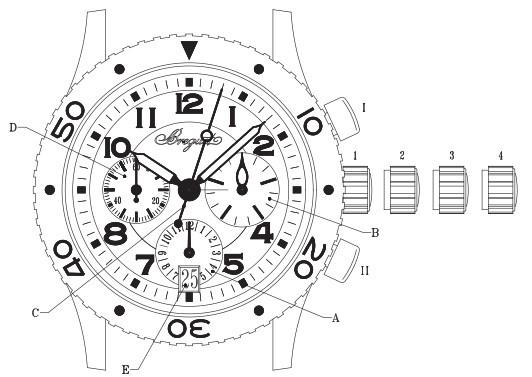 宝玑腕表型号3820ST/H2/9W6 的时间和日期调校