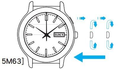 精工 5M54(Kinetic 人动电能)腕表时间/日历设定