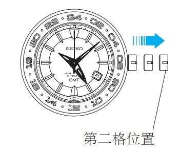 精工5M66(Kinetic 人动电能)腕表时间设定方法(二)