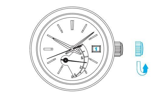精工5R64/5R65(Spring Drive机芯)时间和日期设定方法