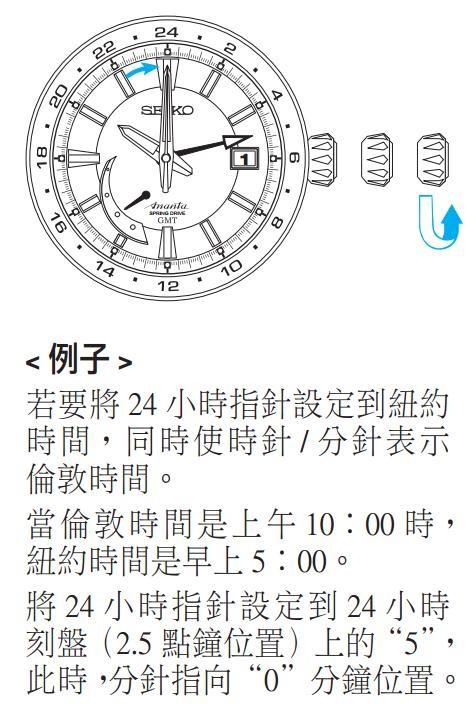 精工5R66/5R67(Spring Drive机芯)时间设定方法二