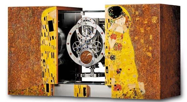 恒动机芯典范 积家全新Atmos Marqueterie麦秆镶嵌空气钟 5543302