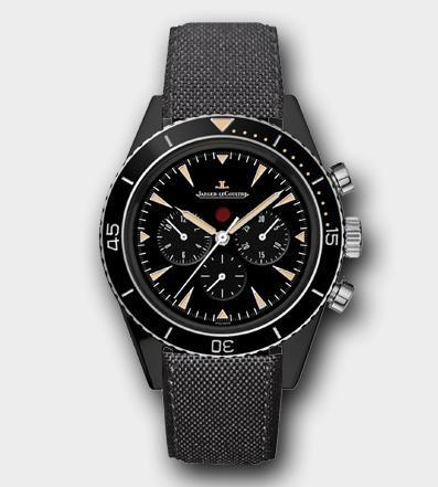 积家全新Master Extrême极限大师系列 Deep Sea Vintage ChronographCermet陶瓷深海潜水复古计时腕表208A57J