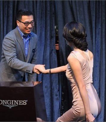 时尚劳模:林志玲出席浪琴LONGINES天津店开业活动