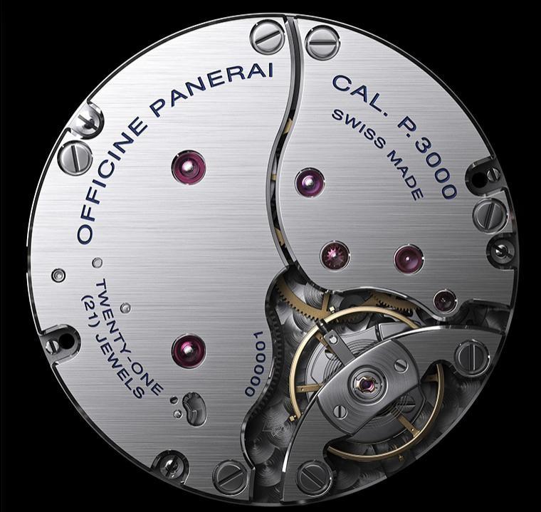 沛纳海自产机芯沛纳海手表机芯 P.3000介绍、图片及表款价格