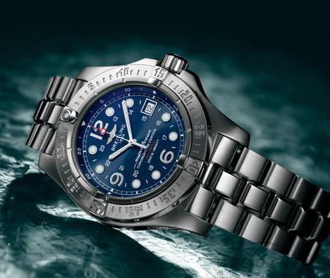 百年灵超级海洋钢鱼潜水腕表