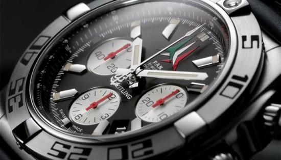 """百年灵终极计时码表""""三色箭""""Chronomat 44 Frecce Tricolori限量版"""