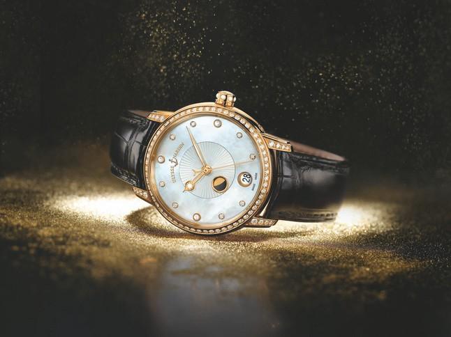 Ulysse nardin雅典 Classico Luna 鎏金沁月腕表