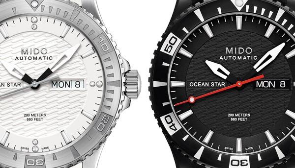 MIDO美度表 黑白风尚 海洋系潜水对表
