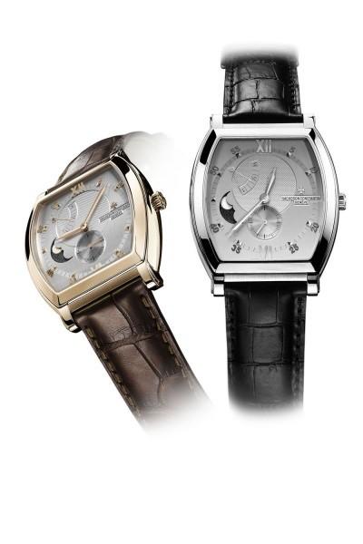 酒桶型月相表,江诗丹顿Malte Tonneau月相盈亏动力储存腕表