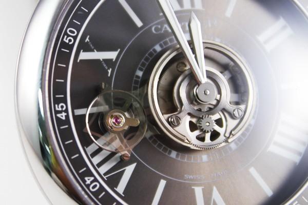 卡地亚-cartier 体运行式陀飞轮碳晶腕表