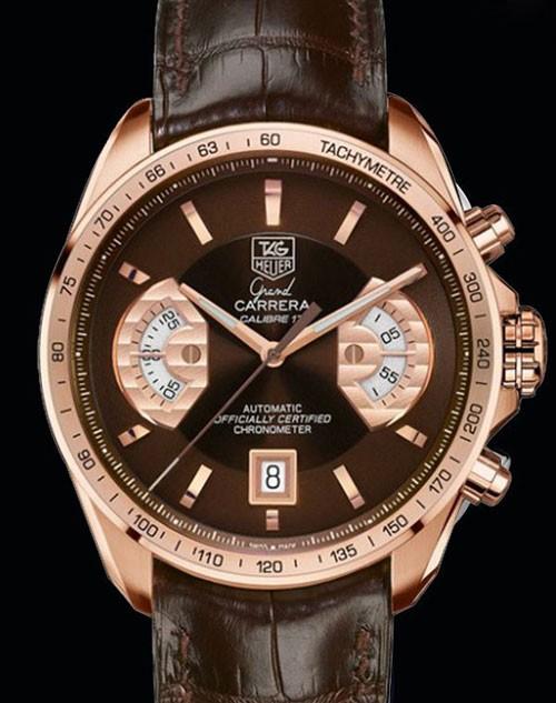 豪雅全球限量版-Grand Carrera Full Rose Gold