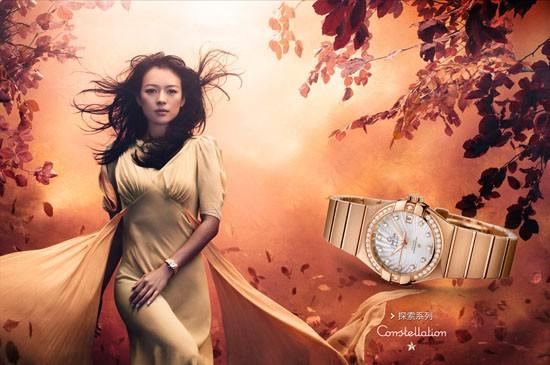 欧米茄星座系列女表 章子怡拍摄欧米茄最新广告