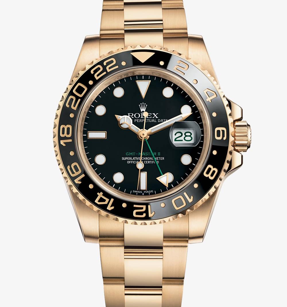 格林尼治型 II:蚝式,40毫米,黄金手表