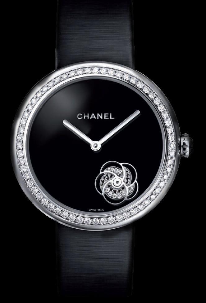 Camellia旋转山茶花表盘手表