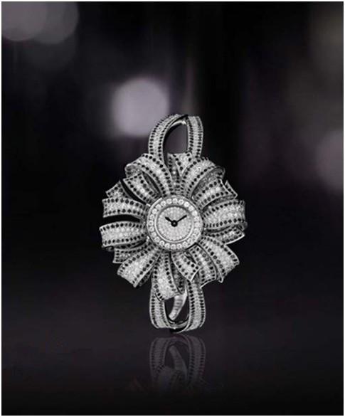 香奈儿18K白金镶钻珠宝腕表J9229