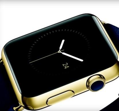 苹果AppleWatch本月开始预订 黄金苹果表帅呆了