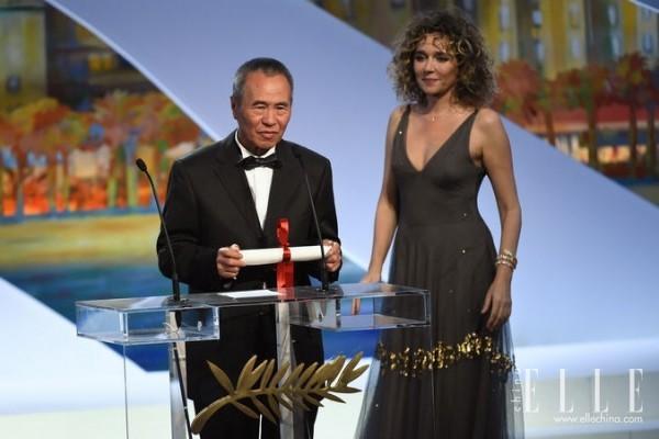 侯孝贤佩戴宝格丽腕表 出席68届戛纳国际电影节颁奖典礼